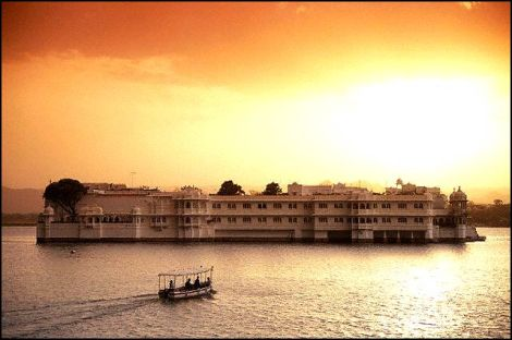 Lake Palace by Sunset