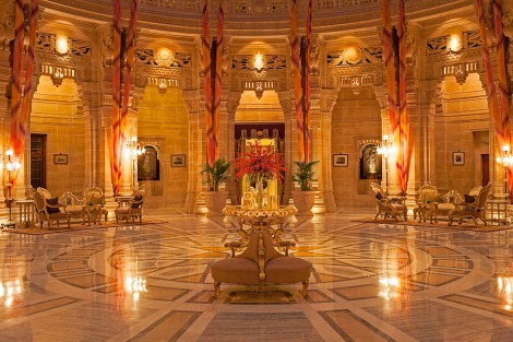 The Umaid Bhawan Palace hall